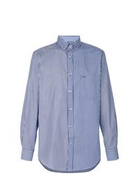 Camisa de manga larga de rayas verticales en blanco y azul de Paul & Shark