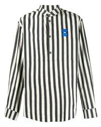 Camisa de manga larga de rayas verticales en blanco y negro de Off-White