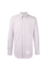 Camisa de manga larga de rayas verticales en multicolor