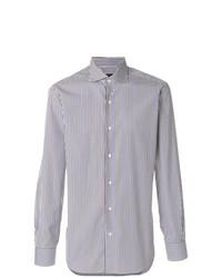 Camisa de manga larga de rayas verticales en multicolor de Barba