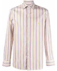 Camisa de manga larga de rayas verticales en multicolor de Etro