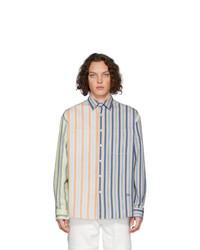 Camisa de manga larga de rayas verticales en multicolor de JW Anderson
