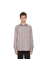 Camisa de manga larga de rayas verticales en multicolor de Paul Smith