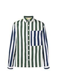 Camisa de manga larga de rayas verticales en multicolor de Sunnei
