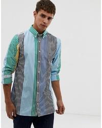 Camisa de manga larga de rayas verticales en multicolor de Tommy Hilfiger