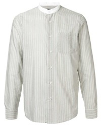 Camisa de manga larga de rayas verticales en verde menta de A.P.C.