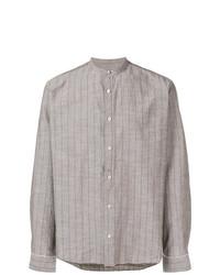 Camisa de manga larga de rayas verticales gris de Al Duca D'Aosta 1902