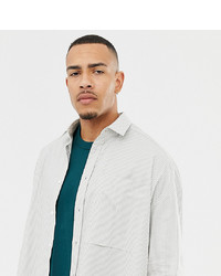 Camisa de manga larga de rayas verticales gris de ASOS WHITE