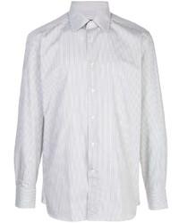 Camisa de manga larga de rayas verticales gris de Ermenegildo Zegna