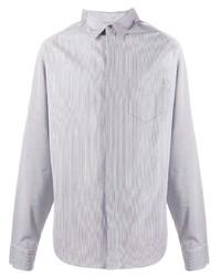 Camisa de manga larga de rayas verticales gris de Maison Margiela