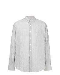 Camisa de manga larga de rayas verticales gris de Vangher