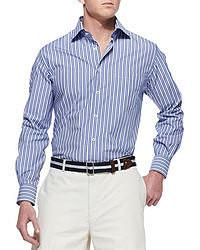 Camisa de manga larga de rayas verticales