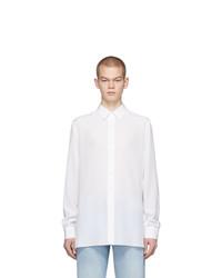 Camisa de manga larga de seda blanca