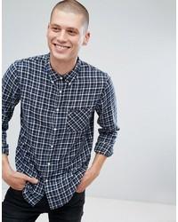 Camisa de manga larga de tartán azul marino de Lee
