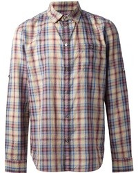 Camisa de manga larga de tartán en multicolor