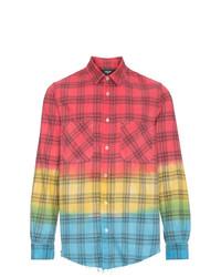 Camisa de manga larga de tartán en multicolor de Amiri