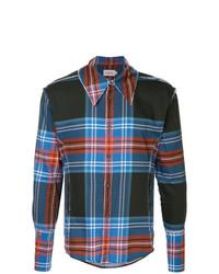 Camisa de manga larga de tartán en multicolor de Charles Jeffrey Loverboy