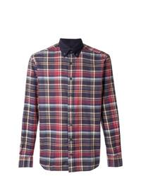 Camisa de manga larga de tartán en multicolor de Hackett