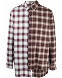 Camisa de manga larga de tartán en multicolor de Lanvin