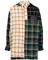Camisa de manga larga de tartán en multicolor de Loewe