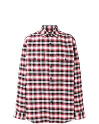 Camisa de manga larga de tartán en multicolor de Marcelo Burlon County of Milan