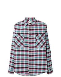 Camisa de manga larga de tartán en multicolor de Off-White
