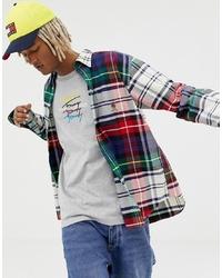 Camisa de manga larga de tartán en multicolor de Tommy Jeans