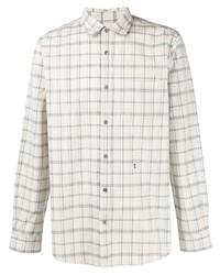 Camisa de manga larga de tartán gris de Closed