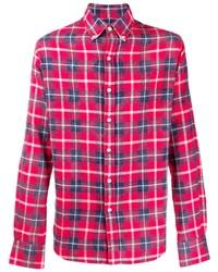 Camisa de manga larga de tartán roja de Faith Connexion