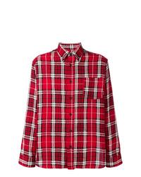 Camisa de manga larga de tartán roja de Isabel Marant