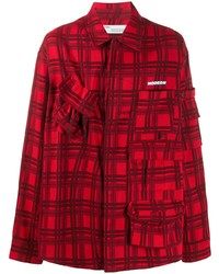 Camisa de manga larga de tartán roja de Off-White