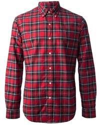 Camisa de manga larga de tartán roja de Polo Ralph Lauren