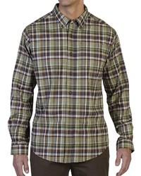 Camisa de manga larga de tartán verde oliva