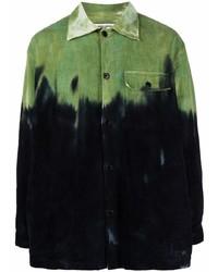 Camisa de manga larga efecto teñido anudado negra de Henrik Vibskov