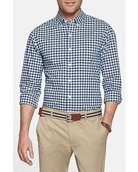 Camisa de manga larga en blanco y azul marino original 2951619