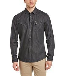 Camisa de manga larga en gris oscuro de Wrangler