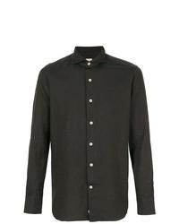 Camisa de manga larga en marrón oscuro de Alessandro Gherardi