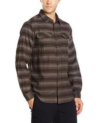 Camisa de manga larga en marrón oscuro de Columbia