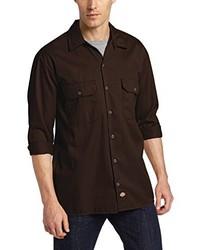 Camisa de manga larga en marrón oscuro de Dickies