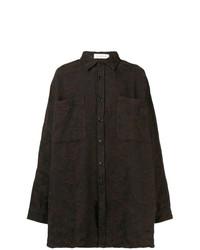 Camisa de manga larga en marrón oscuro de Faith Connexion