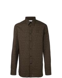 Camisa de manga larga en marrón oscuro de Givenchy