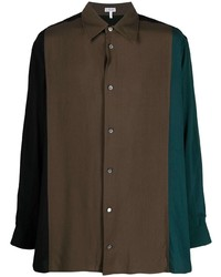 Camisa de manga larga en marrón oscuro de Loewe