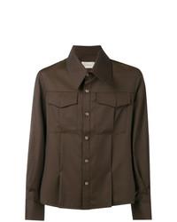 Camisa de manga larga en marrón oscuro de Ne.Sense