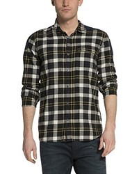Camisa de manga larga en marrón oscuro de Scotch & Soda
