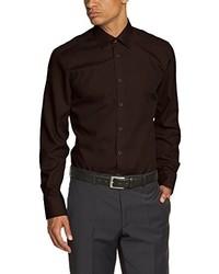 Camisa de manga larga en marrón oscuro de Venti