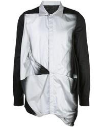 Camisa de manga larga en negro y plateado de Rick Owens