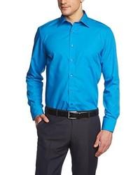 Camisa de manga larga en turquesa de Casamoda