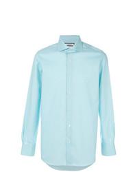 Camisa de manga larga en turquesa de Fashion Clinic Timeless