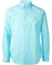 Camisa de manga larga en turquesa de Polo Ralph Lauren