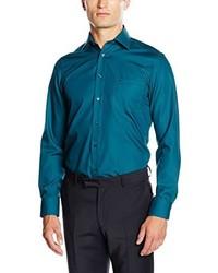 Camisa de manga larga en verde azulado de Casamoda